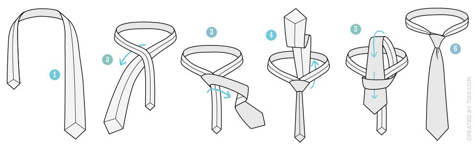 Kolay Basit Düğüm Kravat Bağlamak - Kravat Nasıl Bağlanır?  (Resimli)